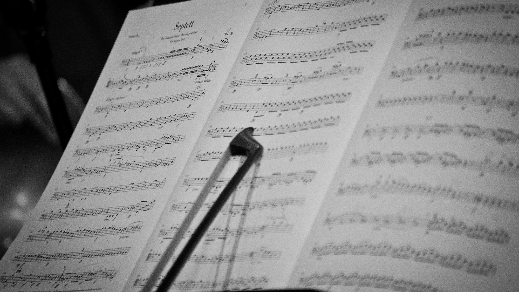 Music Score and Bow